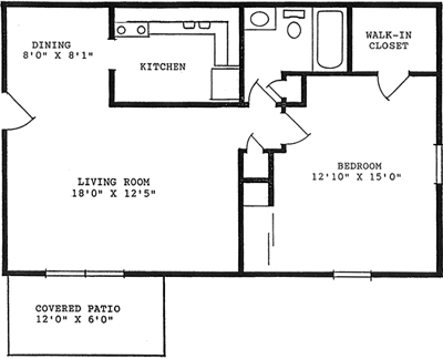 760 square feet, 1 bedroom